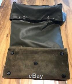 Vintage Swiss Army Military Rubberized Waterproof Rucksack Backpack