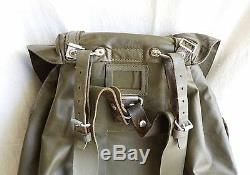 Vintage Swiss Army Rubberized Mountain Engineering Survival Military Backpack #1
