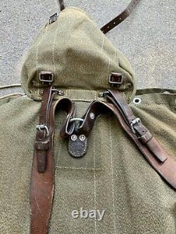 Vintage Swiss Army Salt Pepper Military Backpack Rucksack