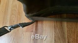 Vintage Swiss Military Back Pack Rucksack Metal Frame Rubberized Canvas HD Army
