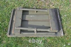 Vintage US Army Green Wood Folding Table Military Field Desk Map Desk WWII