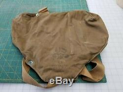 Vintage US Army Military Diaphragm Gas Mask, Canister, Bag, etc
