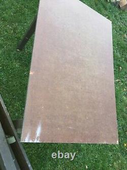 Vintage US military Wood Field Desk Folding Table Army