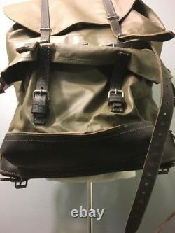 Vtg Swiss Military Backpack Rubberized Army Waterproof Rucksack Mtn Survival Bag