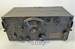 WWII Military US Army Signal Corps Belmont Radio Receiver BC-348-L Untested