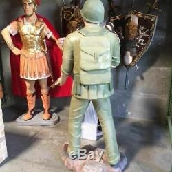 WWII Soldier Life Size Statue Military Army Surplus Theme Decor Prop Display