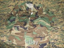 Wholesale lot of 10 case US army military winter weight bdu woodland small long