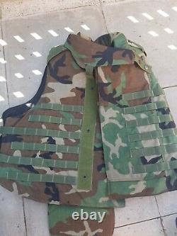 Woodland camo Us American Large Interceptor Vest point blank military army