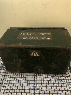Ww2 Military Telephone Set D Mk V Morse Key With Phone Handset Ya1853