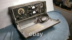 Wwii U. S. Military Army Bc-474 Field Radio Great Condition
